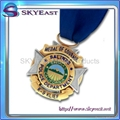 High Quality Printed Metal Medals with Ribbon