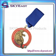 Painted & Enameled Sport Medal with Lanyard
