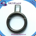 Engraved Pattern Circle Metal Zipper Puller