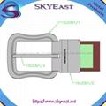 Shiny Metal Adjustable Belt Pin Buckles 4