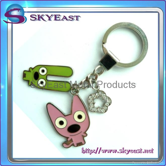 鑲水晶滴膠挂牌匙扣 2