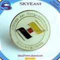 Shiny Gold Enamel Logo Round Metal Pin Badges