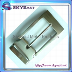 Brushed Nickel Metal Belt Pin Buckles