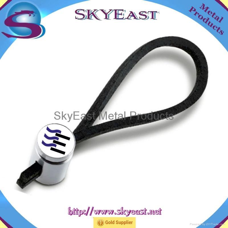 车匙用合金匙扣配真皮绳环 1