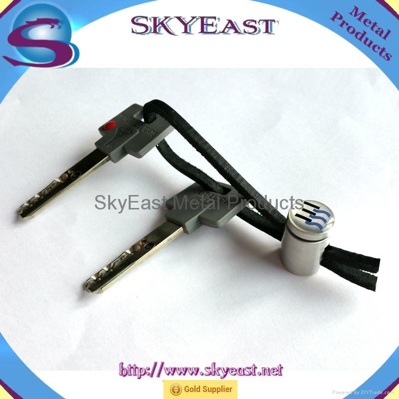 车匙用合金匙扣配真皮绳环 3