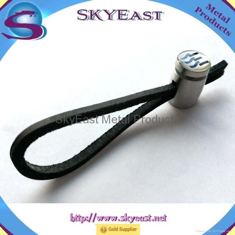 车匙用合金匙扣配真皮绳环 2