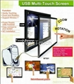 Multitouch screen infrared touch screen