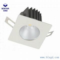 方形單顆25W防眩光LED筒燈