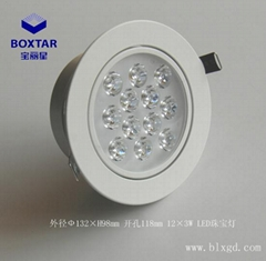 Novel 12 * 3wled jewelry light