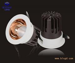 开孔Ф80mm单颗20W LED珠宝射灯、LED珠宝洗墙灯