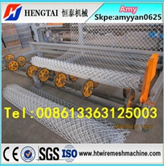 Full automatic Chain Link Fence Machine/Diamond Mesh Machine 4m width