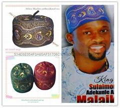 非洲穆斯林繡花羊毛帽