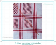 阿拉伯丝光棉头巾 Arabian  mercerized cotton scarf