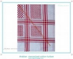 阿拉伯絲光棉頭巾 Arabian  mercerized cotton scarf