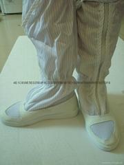 防静电长筒网面皮革靴