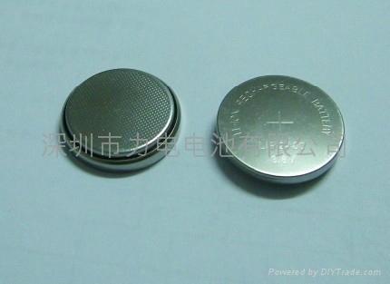 3.6V可充蓝牙耳机电池LIR2450纽扣电池 2