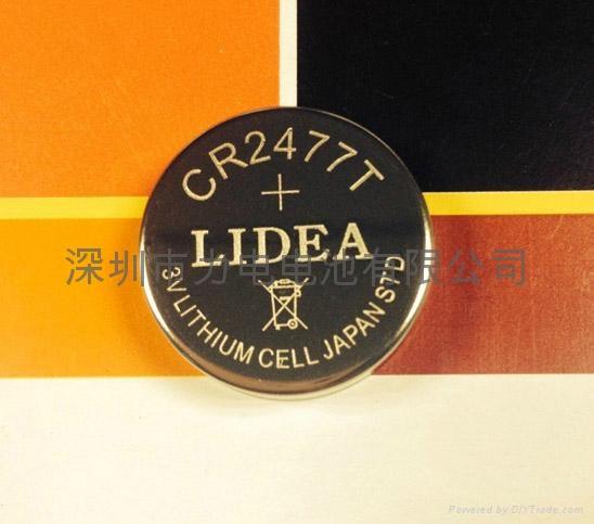 3V锂电池CR2477T纽扣电池 4