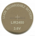 3.6V可充蓝牙耳机电池LIR