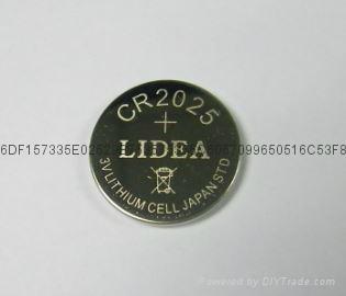 遥控器防盗器报警器用3V纽扣电池CR2025 4