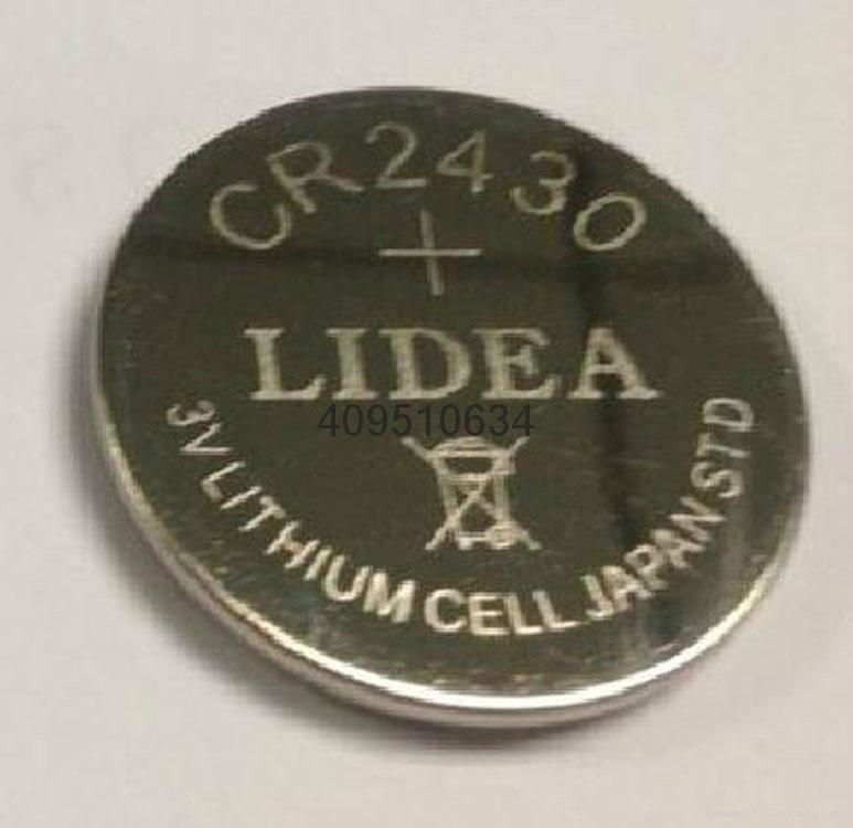 电子标签电池3V锂锰钮扣电池CR2430锂电池 4