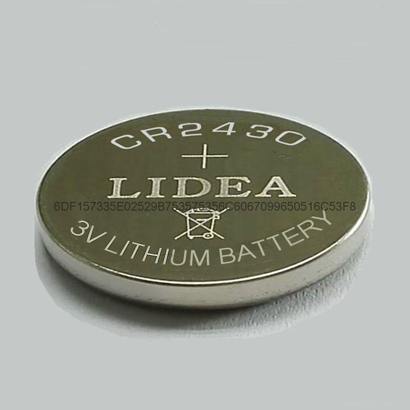 电子标签电池3V锂锰钮扣电池CR2430锂电池 1