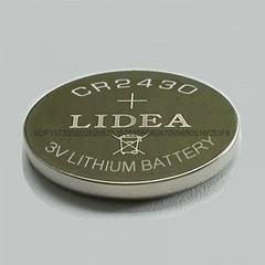 電子標籤電池3V鋰錳鈕扣電池CR2430鋰電池