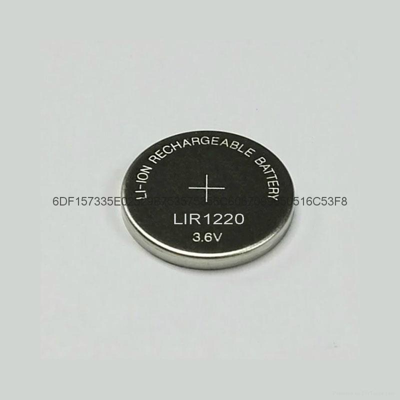 锂离子充电电池LIR1220纽扣电池 4