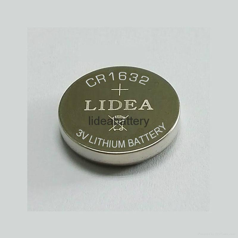 3v锂锰纽扣电池LITHIUM BATTERY CR1632 3