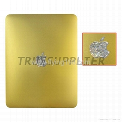 Luxury Apple iPad Wi-Fi Battery Cover Housing Cover With Diamond Logo Golden
