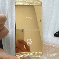 iphone5s 24ct gold diamond housing backcover