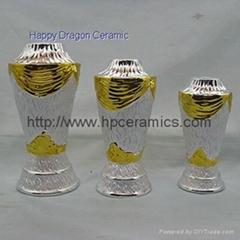 Gold Silver Ceramic Trophy stems, trophy risers
