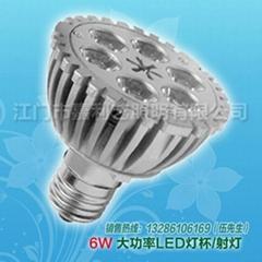 PAR大功率LED射灯6W