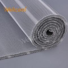 Unique design small hexagon gray washable 3d air mesh fabrics for mattress pad