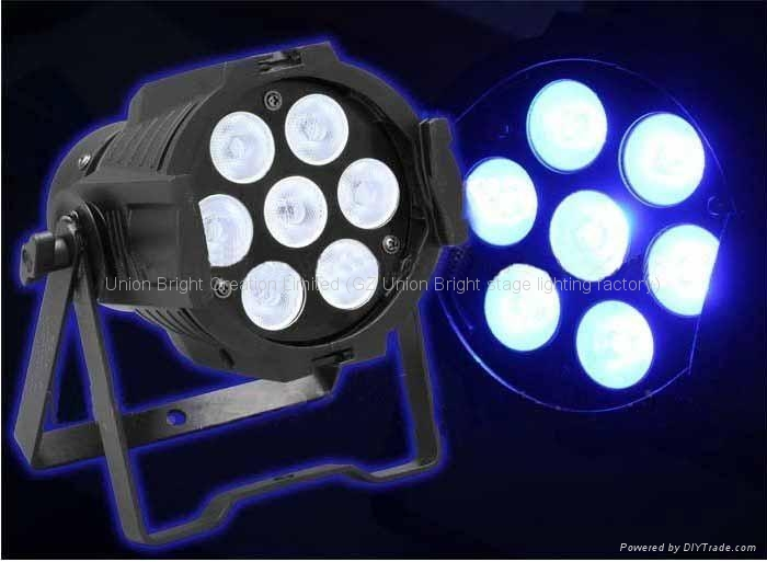 Mini  led par  super bright 7x10w RGBW in 1