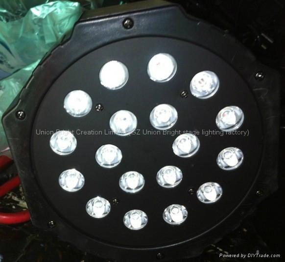 RGB LED Par 18x1w Plastic house