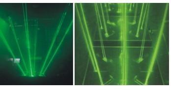 单绿激光舞台地板砖/激光演舞者 4