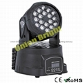 Led Mini Wash 18x3w /18x3w Led Mini  Wash   Moving Head  light