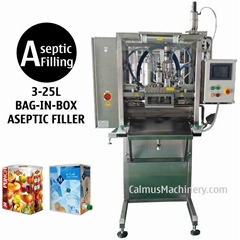3-25L BIB Aseptic Filler Sterile Products Bag in Box Aseptic Filling Machine