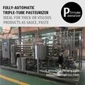 Triple-Tube Heat Exchanger Tubular Sterilizer Sauce Paste Pasteurizer