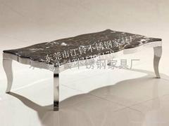 不锈钢家具 不锈钢大理石餐桌
