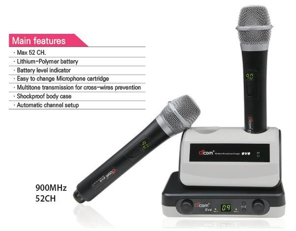 Dcom 900MHz Wireless Microphone System Eve 1