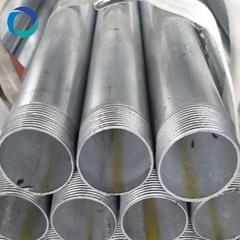 black ga  anized threaded steel round pipe
