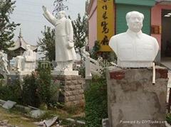 石雕毛主席站坐半身像