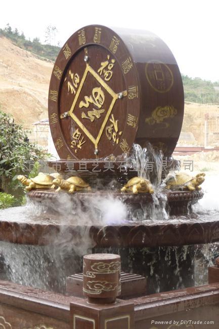 石雕噴泉風水球 4
