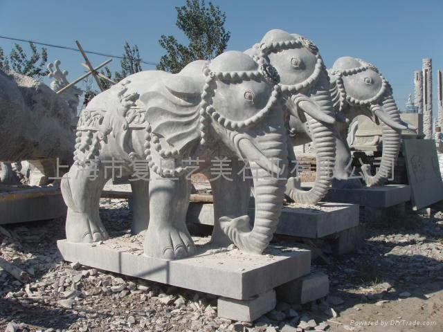 石雕大象 3