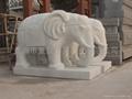 石雕大象 5
