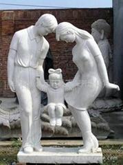 石雕母愛人口計生雕塑
