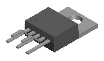 开关型降压稳压集成电路: LM2575 1A 1
