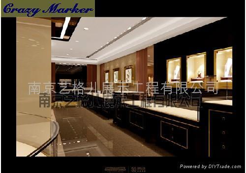 欧式,简约,时尚,现代,典雅,复古,个性等多种款式的珠宝形象展示柜,供