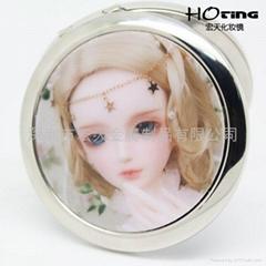 3D卡通眨眼芭比娃娃化妆镜